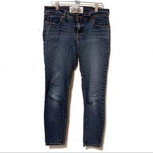 Free People Medium Wash Skinny Jeans